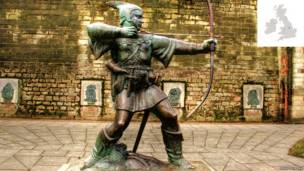 Estátua de Robin Hood, Castelo de Nottingham (Foto: David Telford)