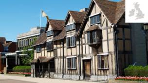 Shakespeare's Birthplace, Stratford Upon Avon, Warwickshire, England.
