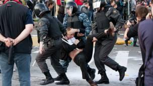 Протесты в Москве. Фото: dervishv