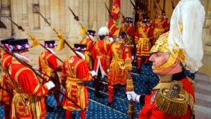 العراقة والتقاليد في افتتاح البرلمان البريطاني