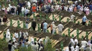 Pekamanan kembali sejumlah korban Srebrenica