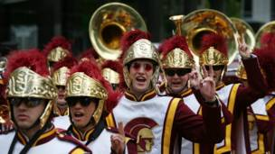 The University of Southern California Trojan Band