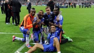 Jugadores del Chelsea celebran