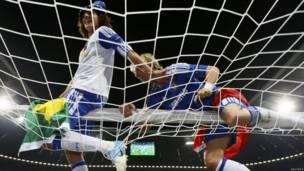 David Luiz y Fernando Torres