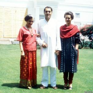 इंदिरा गांधी, राजीव गांधी, सोनिया गांधी