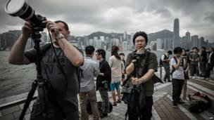 Зрители в Гонконге