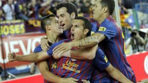 برشلونه يفوز بكأس ملك اسبانيا