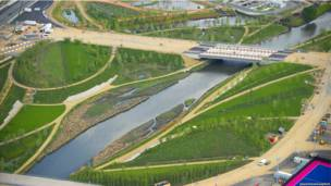 Зеленые насаждения в Олимпийском парке
