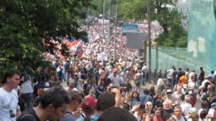 Biểu tình của những người đối lập tại Quảng trường Trubnaya Square