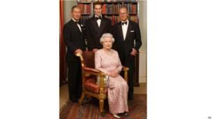 女王和丈夫、長子、長孫