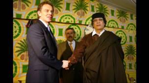 Tony Blair da Muammar Gaddafi