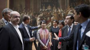 Aung San Suu Kyi in Paris