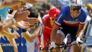 Участник велогонки Тур де Франс Сильвиан Шаванел.