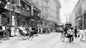 Calle Nanking en 1925