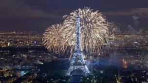 Pháo hoa mừng Quốc khánh Pháp