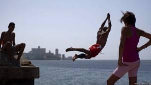 На набережной в Гаване