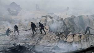 Пожар в Индии