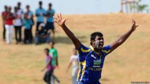 На крикетном матче в Шри-Ланке