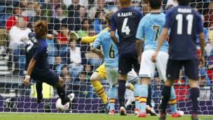 Yuki Otsu anota el primer gol del partido
