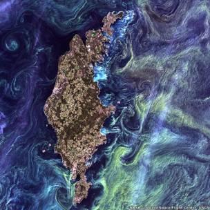 Imagem aérea da ilha de Gotland, na Suécia.