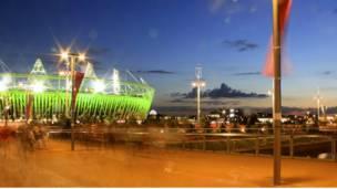 ओलिम्पिक पार्कको रातको दृश्य