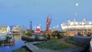 रातपर्न लाग्दा ओलिम्पिक्स खेल स्थलको दृश्य