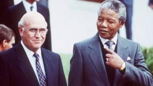 Mandela e Frederik de Klerk
