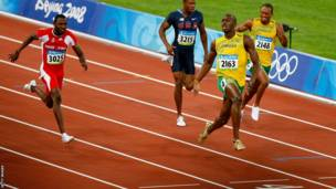 Usain Bolt - The Olympic 100m champion in pictures