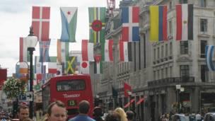 اولمبياد، لندن،أعلام