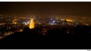 Ночная Алма-Ата