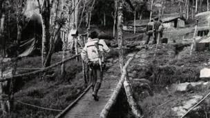 Uno de los primeros campamentos de las FARC