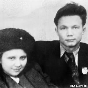 Дети НИкиты Хрущева Леонид и Рада в Куйбышеве, январь 1942 г.
