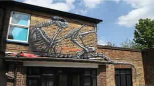 """""""Um mural em Dulwich"""", sul de Londres"""