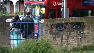 Grafite no sul de Londres, autor desconhecido