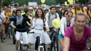 Парад велосипедистов в Москве