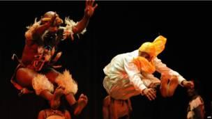 Des danseurs au Festival Rabat AFrica, Maroc. Mercredi 19 juin 2013.