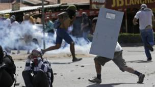 Protestas en Fortaleza