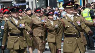 Военнослужащие-участники парада