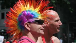 Участники гей-парада