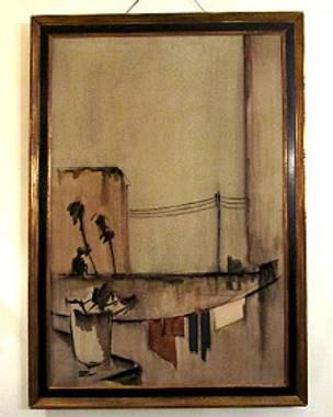 تابلویی از سهراب سپهری در خانه احسان یارشاطر