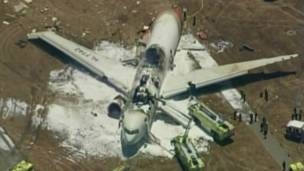 सैन फ़्रांसिस्को में विमान हादसा