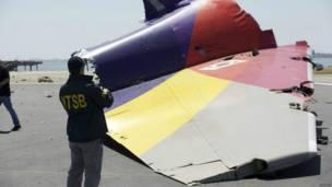 Ekor pesawat Asiana, National Transportation Safety Board