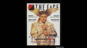 फेस का आवरण पृष्ठ, आर्टिस्ट लॉयड जॉनसन, गोल्ड जैकेट, सितंबर 1986, फोटोः इयामॉन मैकेबे