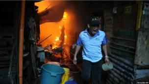 मनीला में लगी आग