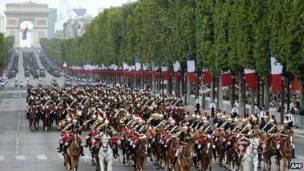 parada militar na frança (AFP)