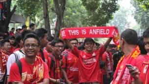 Pendukung Liverpool di Jakarta