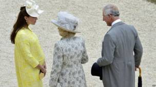 Yariman Wlales da Duchess ta Cornwall da Duchess ta Cambridge