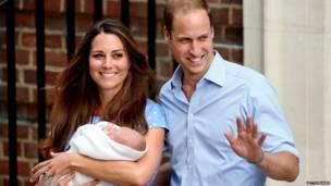 Кейт и Уильям возле больницы. Getty Images
