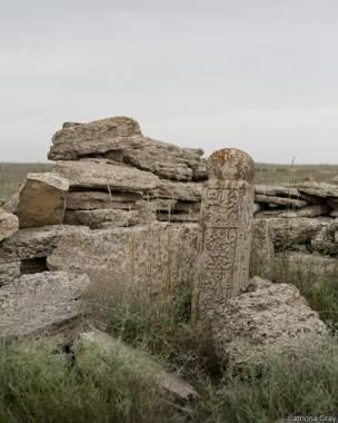Cemitério do planalto de Ustyurt, no Cazaquistão