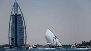 Burj al Arab di Dubai, AFP